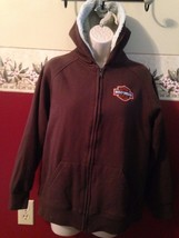 Harley davidson fur lined full zip hoodie size XL (14/16) Childrens size... - $13.10
