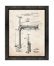 Cellar-pipe for Extinguishing Fires Patent Print Old Look with Beveled W... - $24.95+