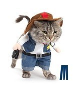Mikayoo Pet Dog Cat Halloween costumesThe Cowboy for Party Christmas Spe... - $23.29