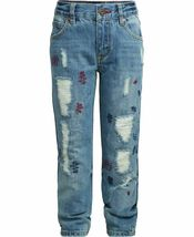 Tommy Hilfiger Nwt Big Boys Rebel Jeans Skinny Fit Größe 8 Distressed KD853 image 3