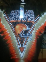 New CLEVELAND BROWNS  Tie Dye V Dye T Shirt LICENSED  NFL APPAREL - $26.99