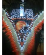 New CLEVELAND BROWNS  Tie Dye V Dye T Shirt LICENSED  NFL APPAREL - $26.99