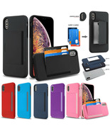 Samsung Galaxy A10E Wallet 3 Cards Holder Rubber Protective Hybrid Case ... - $8.39