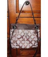 Coach Ashley Gold Op Art Signature Cross Body Bag 21021 - $64.60