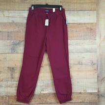 The Children's Place NWT Pants Boy's Sz 12 Red Elastic Waist/Ankles Pockets D186 - $15.83