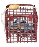 Crab Trap Christmas Ornament with Metal Blue Crab Inside - $19.99