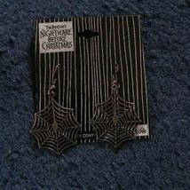 Tim Burton Disney Nightmare Before Christmas Earrings spiderweb - $17.99