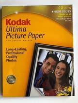 Kodak Ultima Picture Paper 8 1/2 X 11 High Gloss 40 Sheets - $16.66