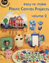 Easy to Make Plastic Canvas Projects Vol 2 Coasters Tissue Glasses Case ... - $1.32
