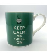 Keep Calm and Grill On Novelty coffee mug cup Kent Pottery made in England - $5.45