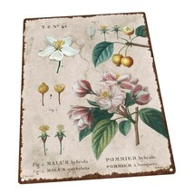 Vintage Flower Encyclopedia, Crabapple Metal Sign; Decor for Porch and P... - $29.69+