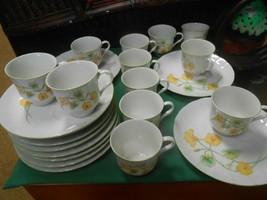 Great NASTURTIUM Delpapa Snack Set-12 Cups and Snack Plates - $22.36