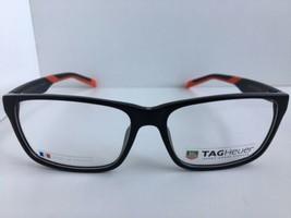 2a88e9bb73d New TAG Heuer TH 552 005 59mm Black Red Men  39 s Eyeglasses Frame