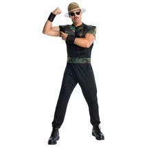 WWE Mens Adult Sgt. Slaughter Halloween Costume, Gi Joe Slaughter Costume - $46.74