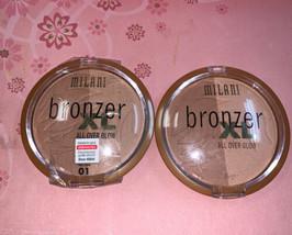 Milani Powder Bronzer Xl All O Ver Glow In 01 Bronze Glow - $16.82