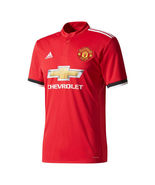 Manchester United adidas 2017/18 Home Replica Blank Jersey - Red (S) - $85.00