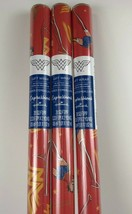 3 New Wonder Woman Classic Super Hero Christmas 20sq Ft Wrapping Paper Red Lasso - $23.75