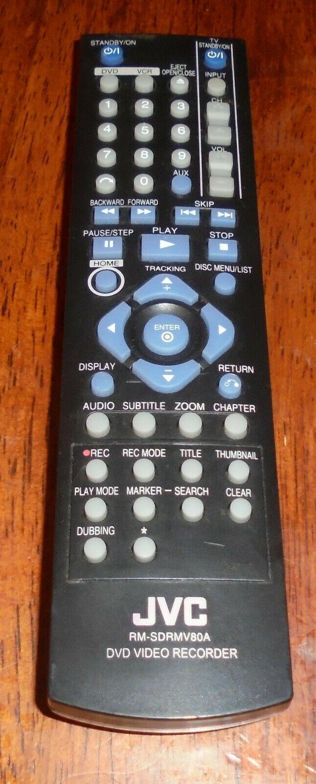 Genuine JVC RM-SDRMV80A Remote Control DRMV80B DR-MV80B Video Recorder Original