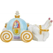 Walt Disney's Cinderella's Carriage Ceramic Salt and Pepper Shakers, NEW UNUSED - $30.91