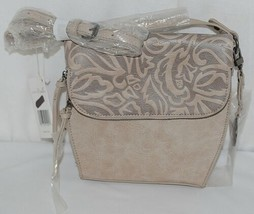 Simply Noelle Brand Beige Taupe Color Floral Leaf Pattern Womens Purse image 1