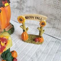 Fall Fairy Garden Set, Pumpkin Fairy House, Tiny Gnome Hut, Autumn Fairy Decor image 9