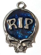 RIP Skull Fine Pewter Pendant Approx. 1 5/8 inches tall image 4