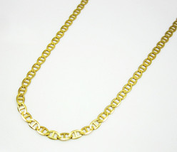Men's 10K Yellow Gold Mariner Anchor Link Chain Necklace 2.5MM 16 Inches - $144.40
