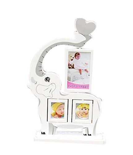 5 inch+3 inch Creative Cartoon Swing Sets Children's Photo Frame Elephant Model