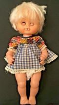 Vintage Uneeda Girl Doll Eyes Open & Close Hard Plastic Body Hong Kong  - $24.63