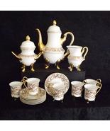 Chekoslovakian Cappuccino Latte Tea Set - White and Gold - 15 Piece Set - $74.99