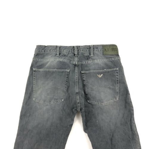 Armani Men's Gray Jeans Straight 32 image 2