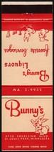 Vintage matchbook cover BUNNYS LIQUORS rabbits pictured St Louis Park Mi... - $5.99