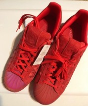 Adidas Men's Superstar Fashion Red Vivred Sneaker 11 - $75.99