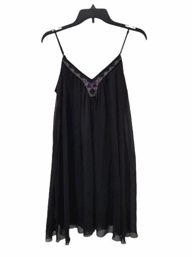 NWT NEW Women Black Express Spaghetti Strap Summer Mini Slip Dress Size S