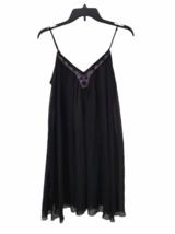 NWT NEW Women Black Express Spaghetti Strap Summer Mini Slip Dress Size S image 1