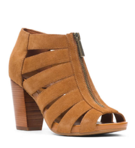 NEW MICHAEL KORS BROWN  LEATHER SUEDE PUMPS BOOTIES SIZE 8.5 M $135 - $56.42