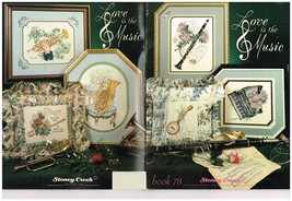 LOVE IS THE MUSIC - STONEY CREEK CROSS STITCH BOOK - $9.85