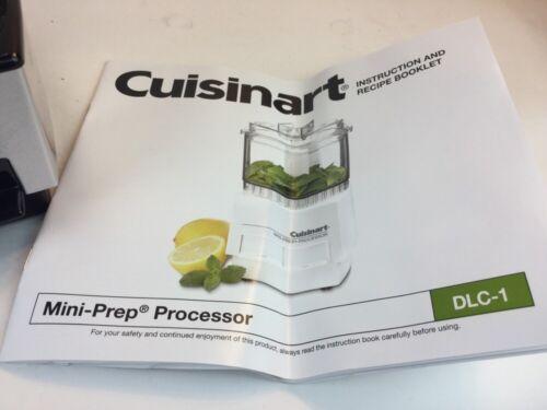 Cuisinart Black Chrome Mini Prep Chopper Grinder Food Processor DLC-1SS