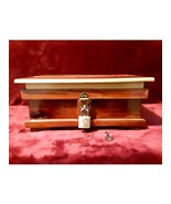 Handmade Red Cedar Jewelry Trinket Keepsakes Treasure Box with Padlock &... - $125.00