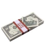 $5,000 1990 Style $50 Full Print Bills Prop Money Stack - $14.99