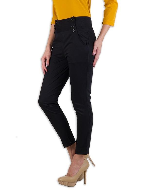 Rider Republic Women's Black Flat Front Stretch Pant