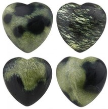 Rockcloud Healing Crystal 0.8 Inch Blossom Agate Heart Love Carved Palm Worry - $27.89