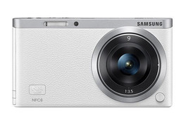 Samsung SMART CAMERA NX Mini Body with 9mm Lens KIT White /20.5MP,W-iFi,NFC NEW image 1
