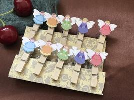 10pcs Angel Paper Clips,Photo Clips,Children's Birthday Party Favor Deco... - $3.20