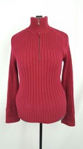 Women's Knit Sweater Calvin Klein Jeans Large Red Long Sleeve - $16.55