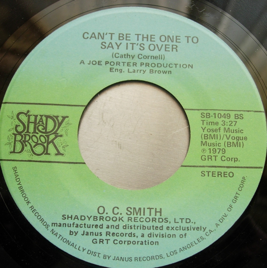 O.C. Smith - Living Without Your Love - Shady Brook SB 1049