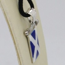 SOLID 925 STERLING SILVER PENDANT WITH NAUTICAL FLAG, LETTER M, ENAMEL, CHARM image 2