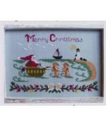 Santa At The Seashore cross stitch chart By The Bay Needlearts  - $8.10