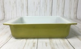Pyrex Verde Avocado Olive Green #922 8 x 8 x 2 Square Brownie Pan Casser... - $17.72