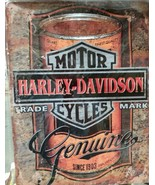 "MotorCycles Harley Davidson Genuine Since 1903 Metal Sign New 10"" x 13"" - $19.79"